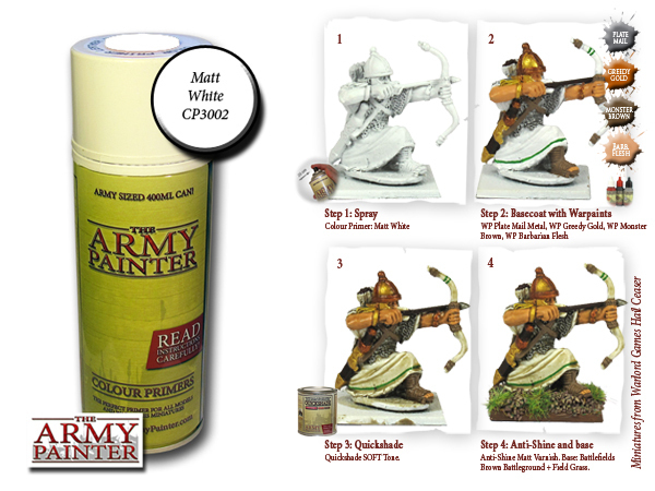 Army Painter: Color Primer, Matt White 400 ml