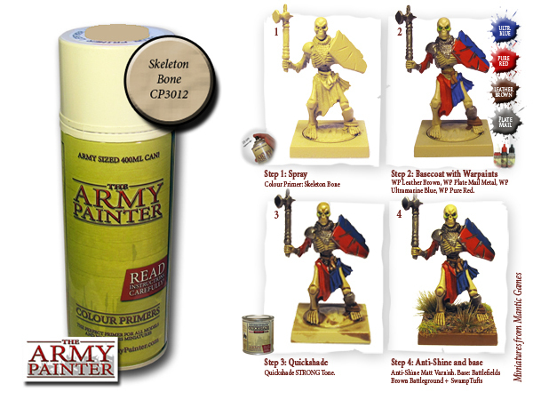 Army Painter: Color Primer, Skeleton Bone 400 ml