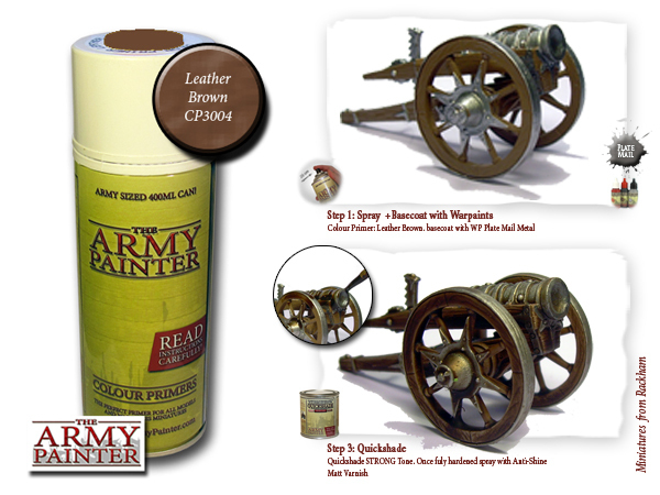 Army Painter: Color Primer, Leather Brown 400 ml
