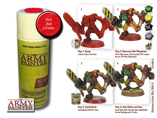 Army Painter: Color Primer, Pure Red 400 ml
