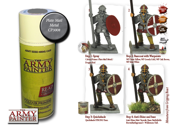 Army Painter: Color Primer, Plate Mail Metal 400 ml