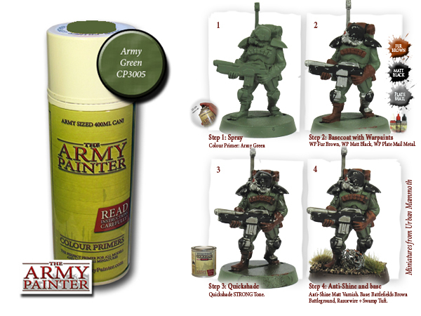 Army Painter: Color Primer, Army Green 400 ml