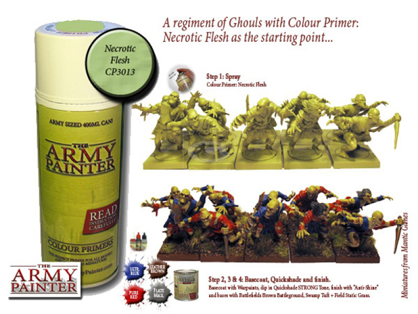 Army Painter: Color Primer, Necrotic Flesh 400 ml
